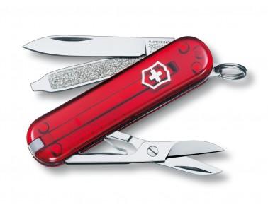 Victorinox classique couteau polyvalent 58mm rouge transparent
