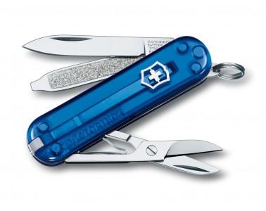 Victorinox classique polyvalent couteau 58mm bleu transparent